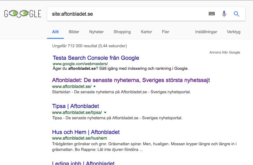 aftonbladet.se på Google