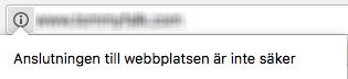 Osäker anslutning med http