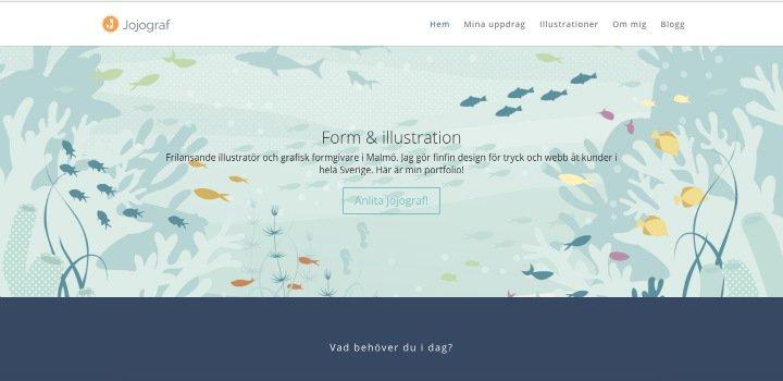 Jojograf - en sajt bygd i Divi