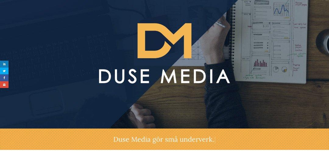 Duse Media – bygger din hemsida i Malmö
