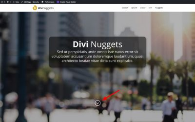 Divi Nugget #2: Skapa en studsande scroll-pil neråt i WordPress