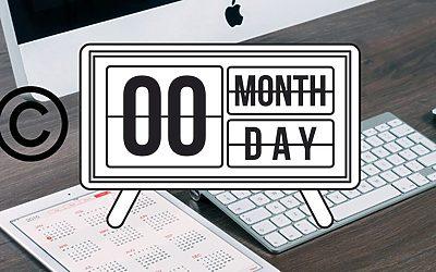 Visa aktuellt år eller datum i din WordPress-footer