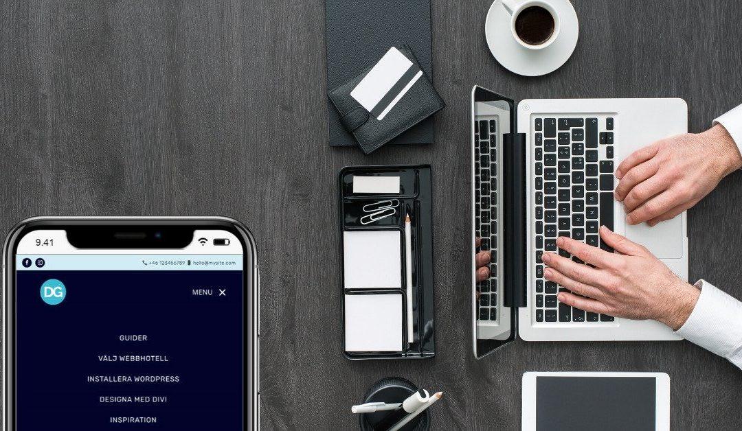 Sex tips för bättre mobilmeny i Divi + gratis layout för nedladdning
